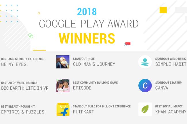 Google wyróżniło 9 aplikacji w ramach Google Play Awards 2018